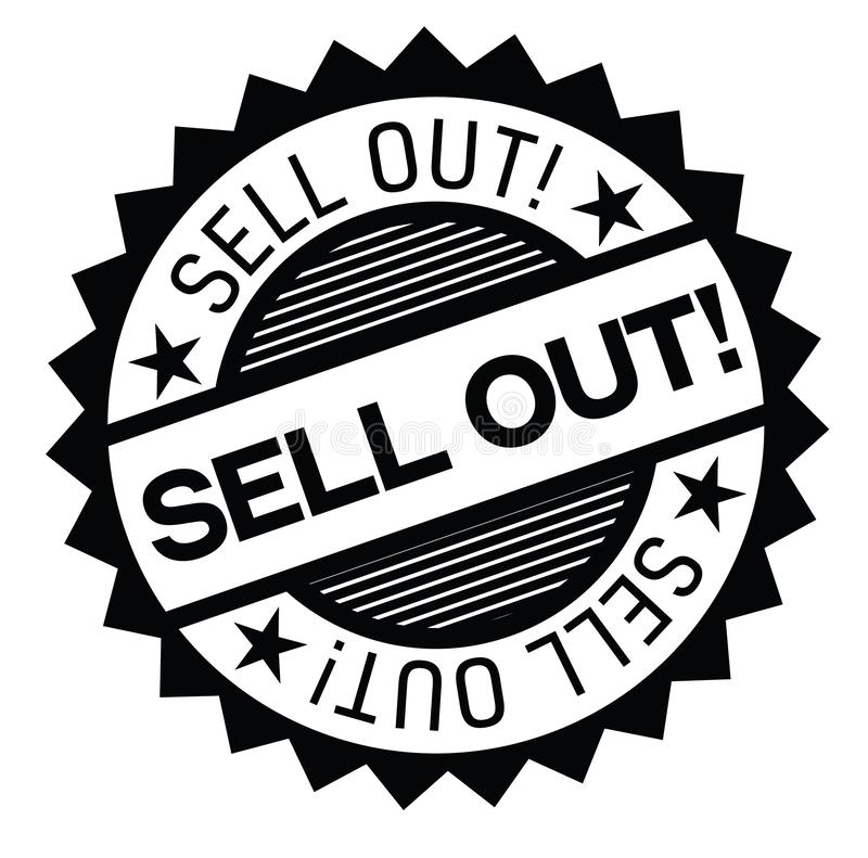 Sell Out Stamp On White Stock Vector. Illustration Of