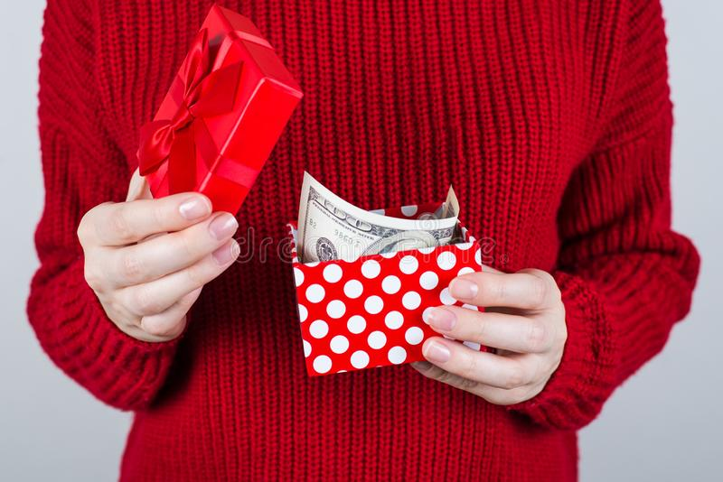 Sell people person charity donate income perks benefit give discount sale extra job work business entrepreneur chistmas concept. Cropped close up photo of royalty free stock photos