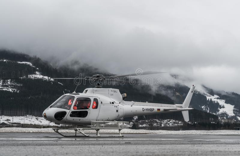 Sell Am See, Austria, March 31 2018, German Helicopter is taking royalty free stock photos