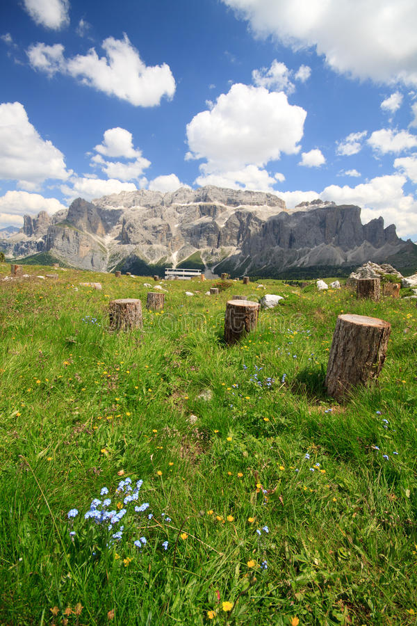 Download Sella mountain stock image. Image of alps, forest, rock - 20422133