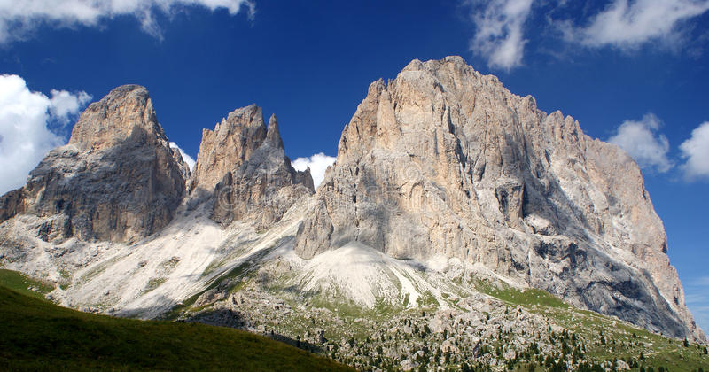 Sella Pass Dolomite Italy stock images