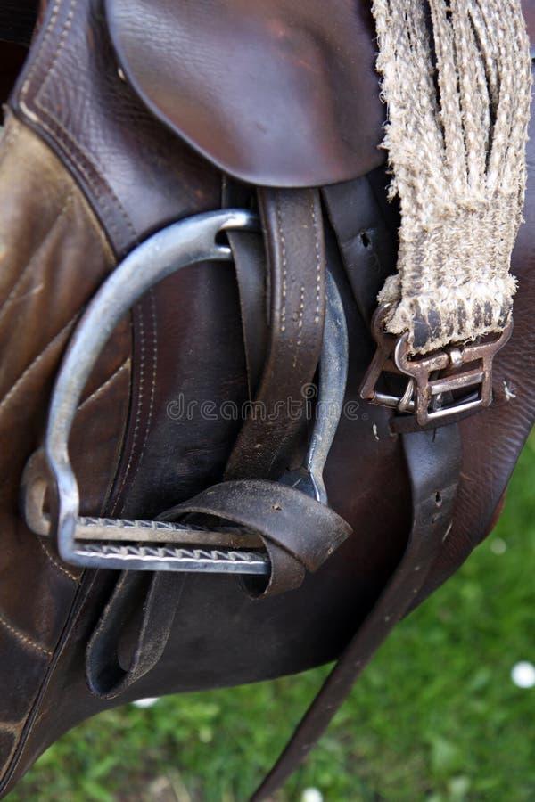 Selle de cheval photographie stock libre de droits