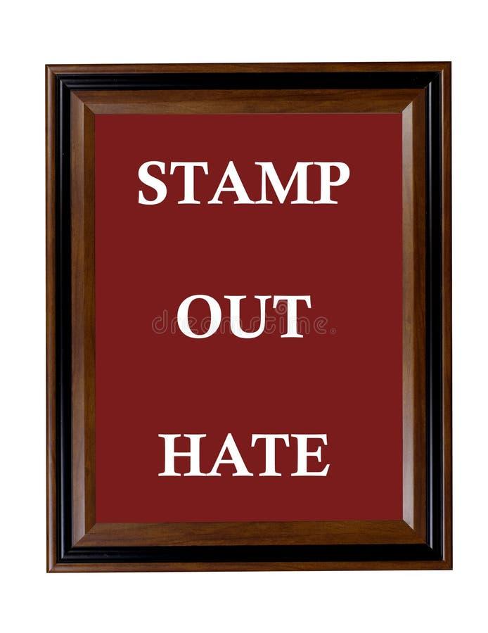 Selle hacia fuera la muestra del odio foto de archivo libre de regalías
