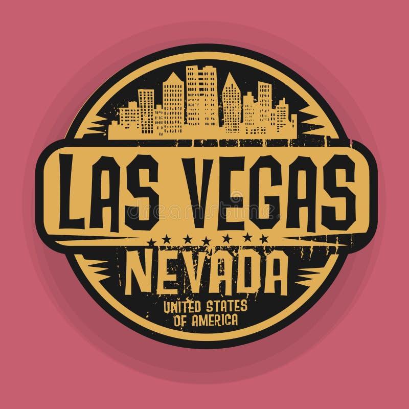 Selle o etiqueta con el nombre de Las Vegas, Nevada libre illustration