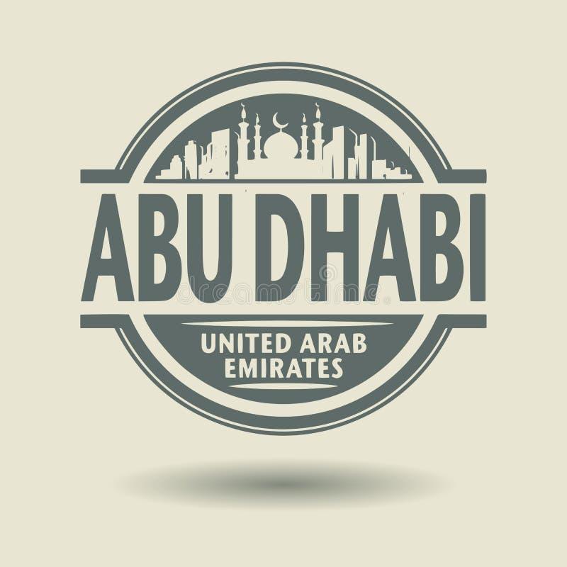 Selle o etiqueta con el texto Abu Dhabi, United Arab Emirates dentro stock de ilustración