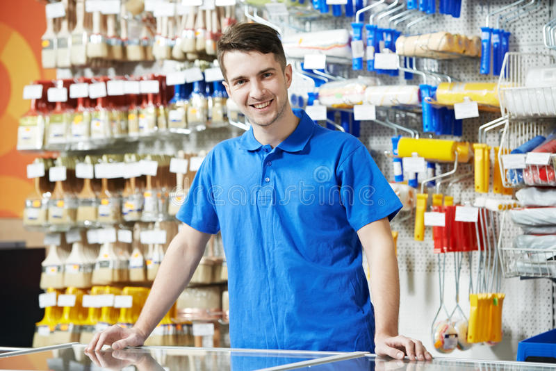 Download Seller At Home Improvement Store Royalty Free Stock Photo - Image: 27594965