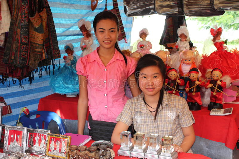 Download Sellers on market editorial stock image. Image of vientiane - 17714944