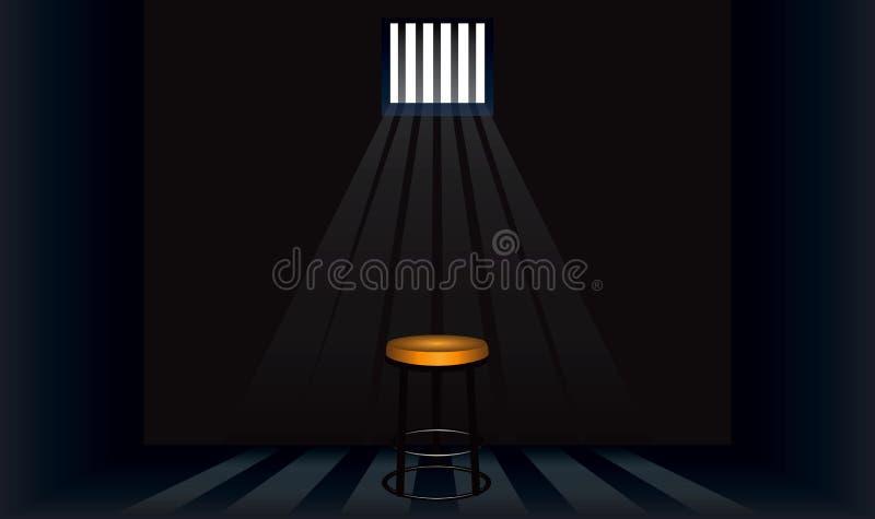 Selles dans la cellule de prison illustration stock