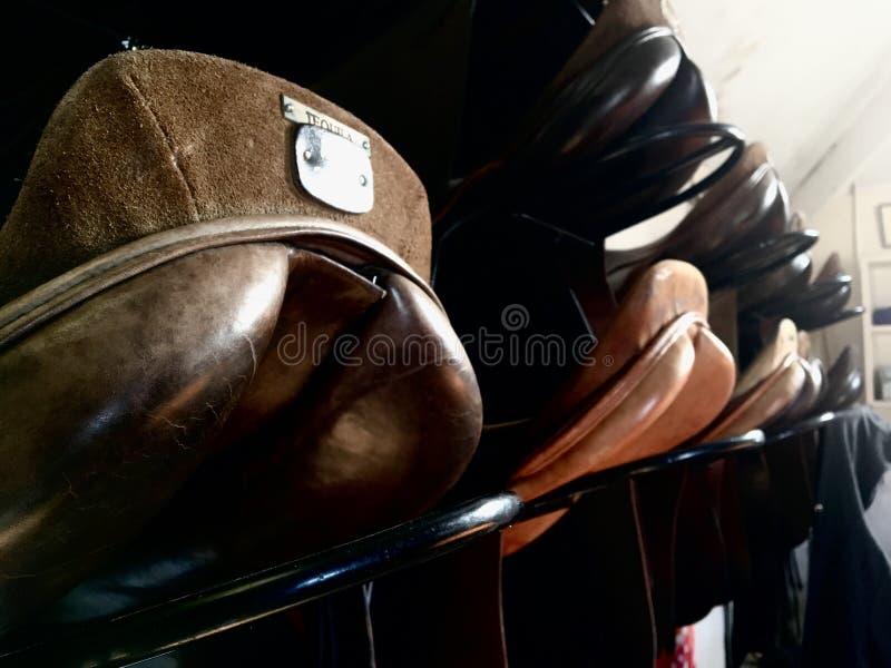Selles de cheval photo stock