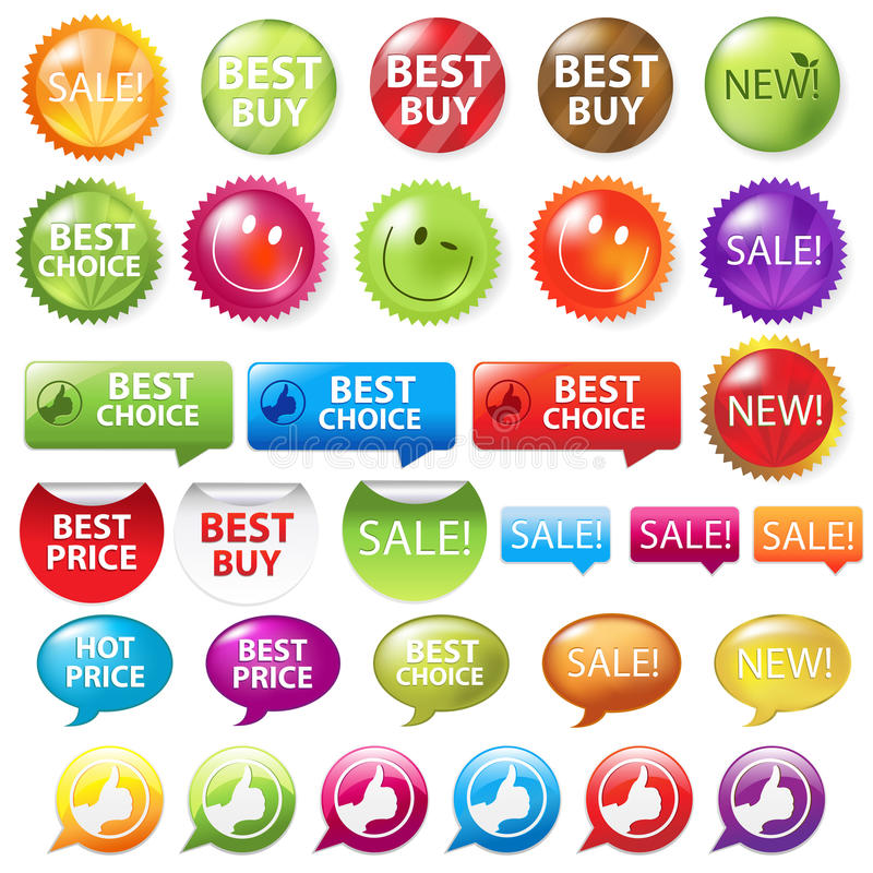 Download Selling Badges. Vector Royalty Free Stock Photography - Image: 16935767