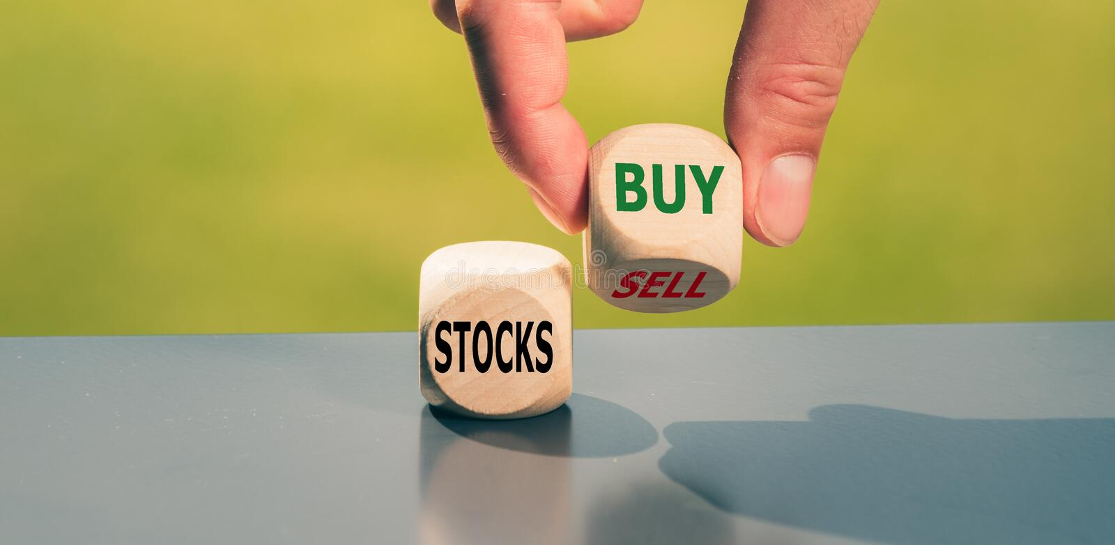Selling or buying stocks? royalty free stock images