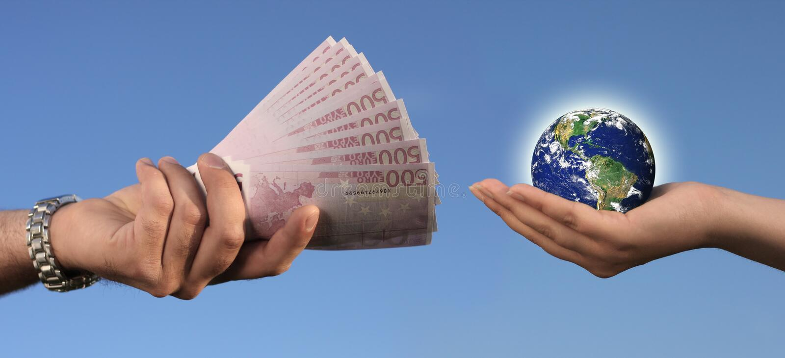 Selling Earth stock photo