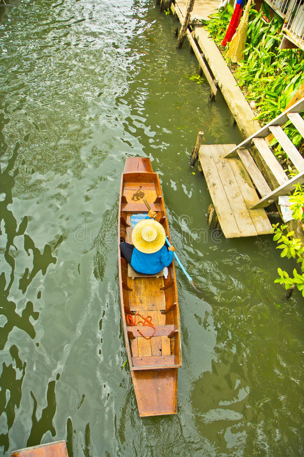Download Selling Food On A Boat At Floating Market, Thailand Stock Image - Image: 38334605