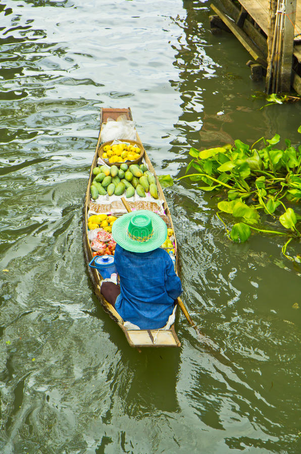 Download Selling Food On A Boat At Floating Market, Thailand Stock Photo - Image: 38334660
