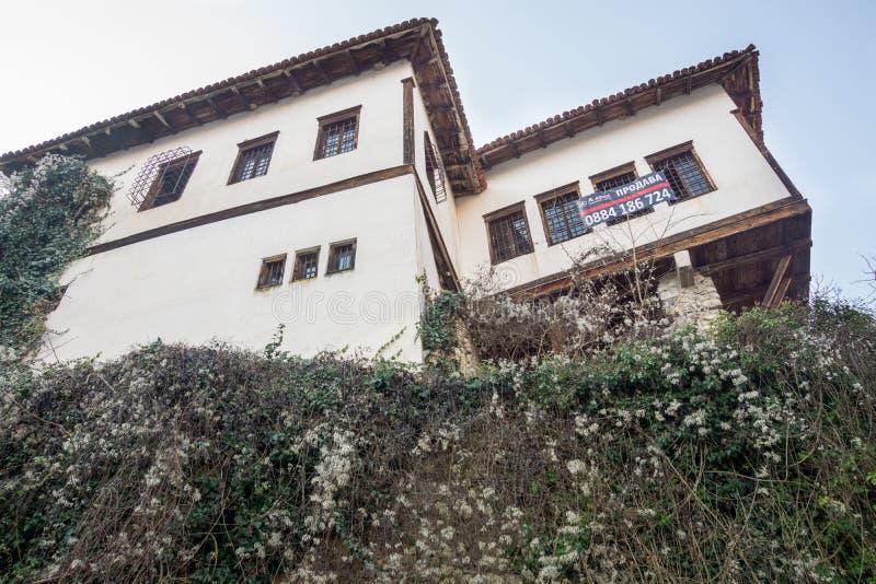 Selling real estate in a historic Melnik, Bulgaria royalty free stock photos