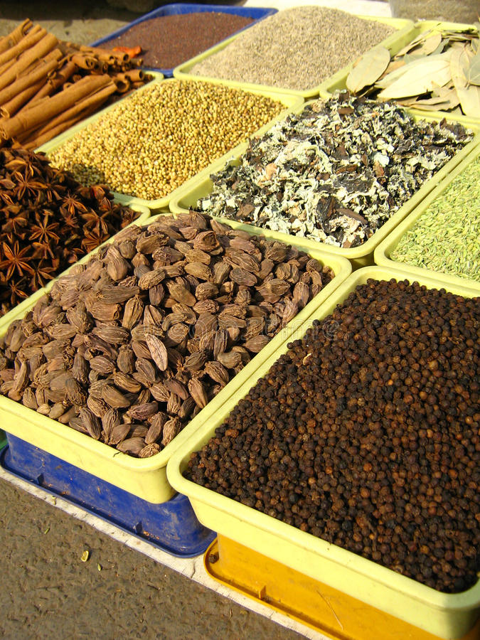 Free Selling Spices Of India Royalty Free Stock Photography - 13937197