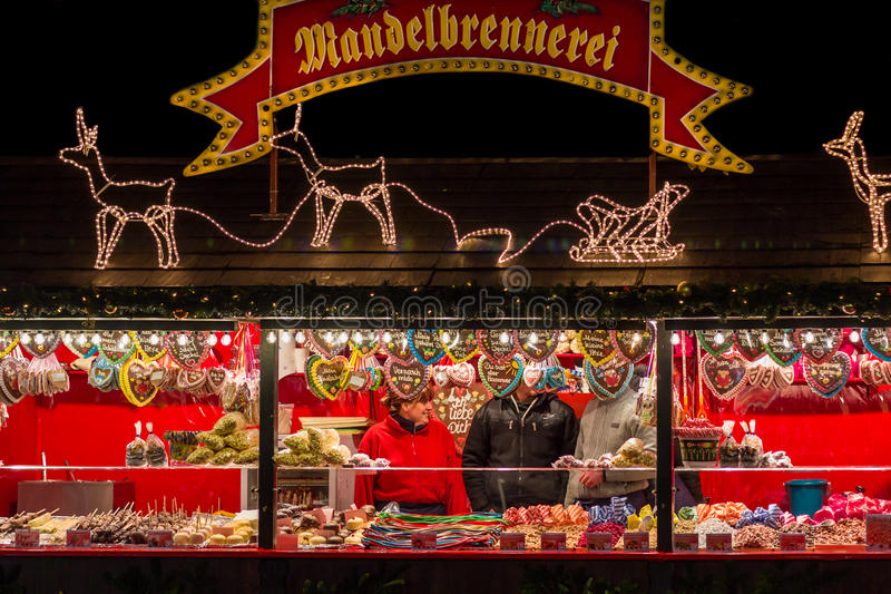 Selling sweets- Nuremberg (Nuernberg), Germany- christmas time stock images