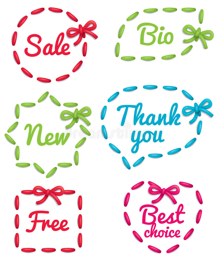 Download Selling tag set stock vector. Image of collection, round - 19910732