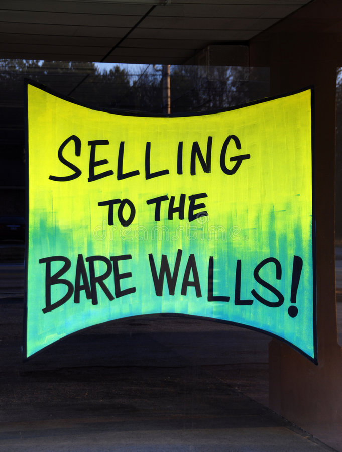 Download Selling to the Bare Walls stock photo. Image of clearance - 3982640