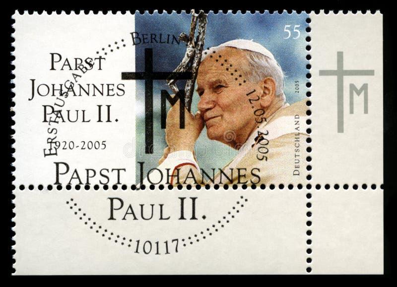 Sello alemán de papa Juan Pablo II fotos de archivo