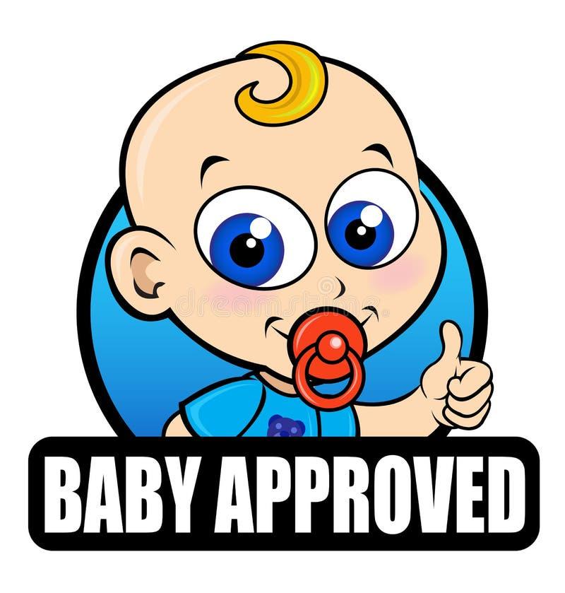 Sello aprobado del bebé stock de ilustración