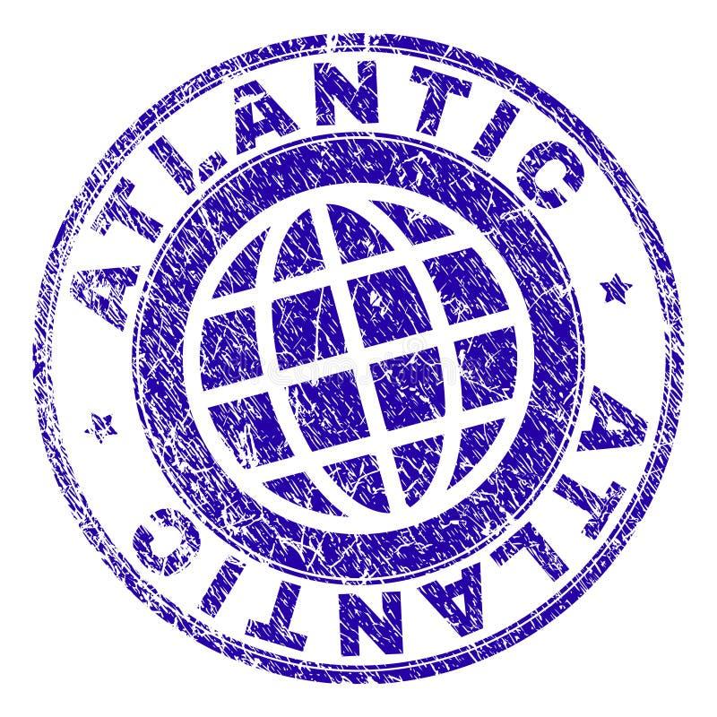 Sello ATLÁNTICO texturizado Grunge del sello stock de ilustración