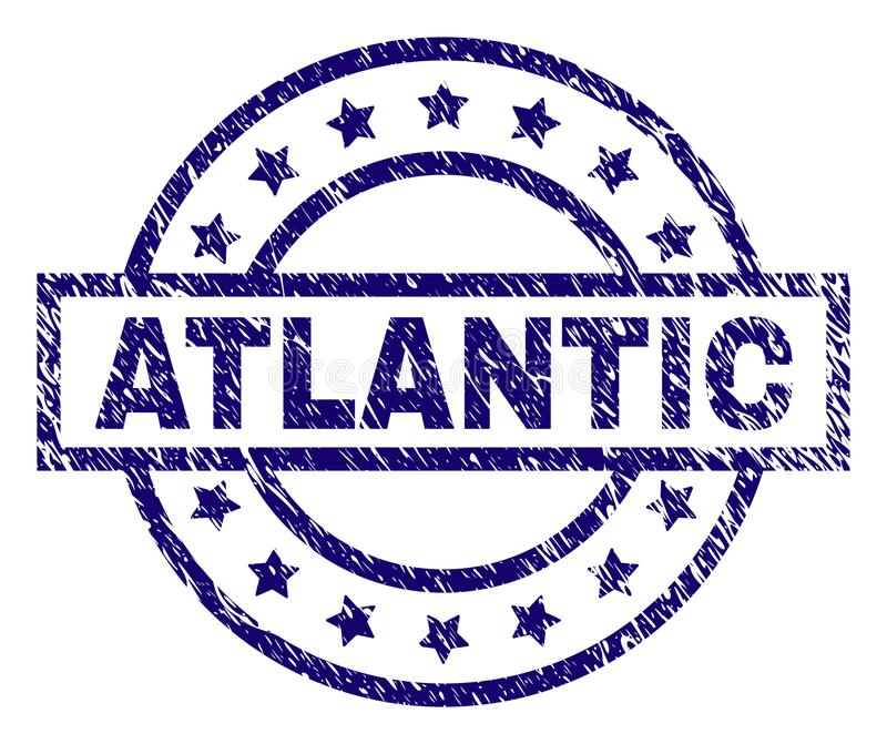 Sello ATLÁNTICO texturizado rasguñado del sello libre illustration