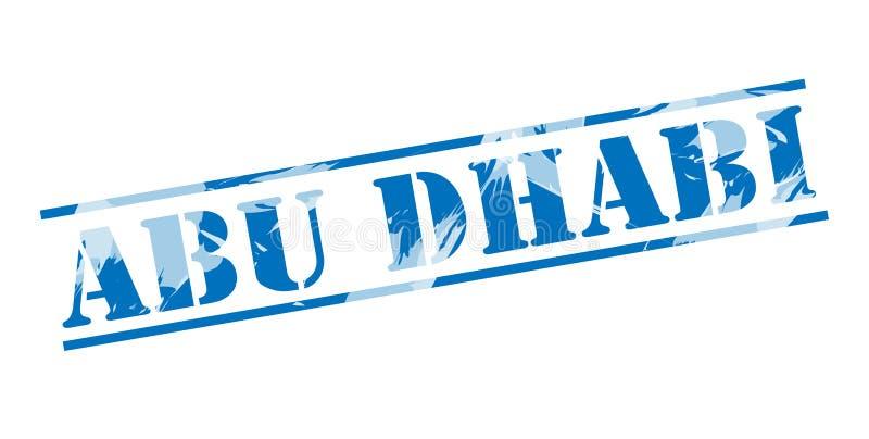 Sello azul de Abu Dhabi stock de ilustración