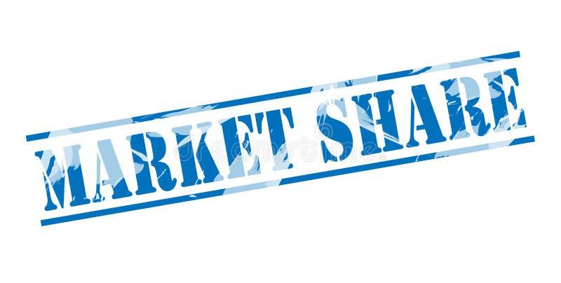 Sello azul de la cuota de mercado stock de ilustración