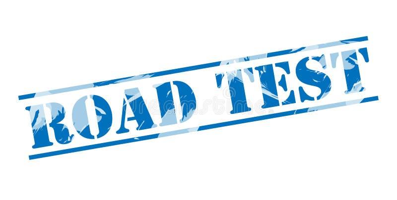 Sello azul de la prueba en carretera libre illustration