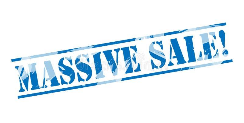 Sello azul de la venta masiva ilustración del vector