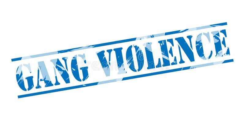 Sello azul de la violencia de la cuadrilla stock de ilustración