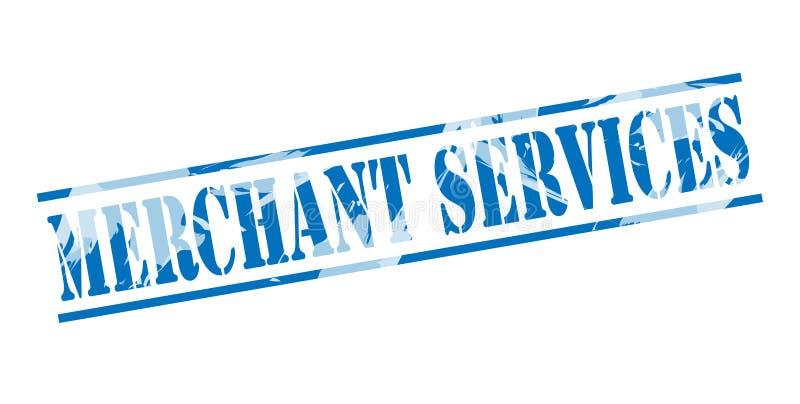 Sello azul de los servicios mercantil stock de ilustración