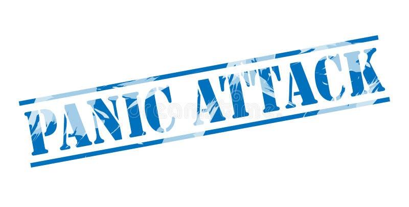 Sello azul del ataque de pánico ilustración del vector