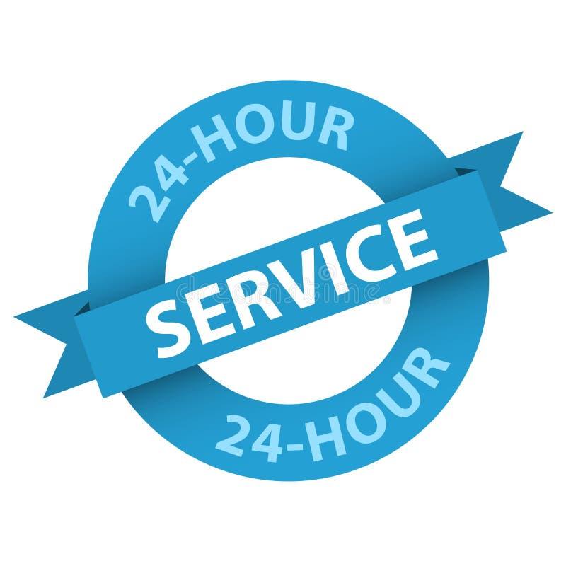 sello azul del papel del vector del SERVICIO de 24 horas libre illustration