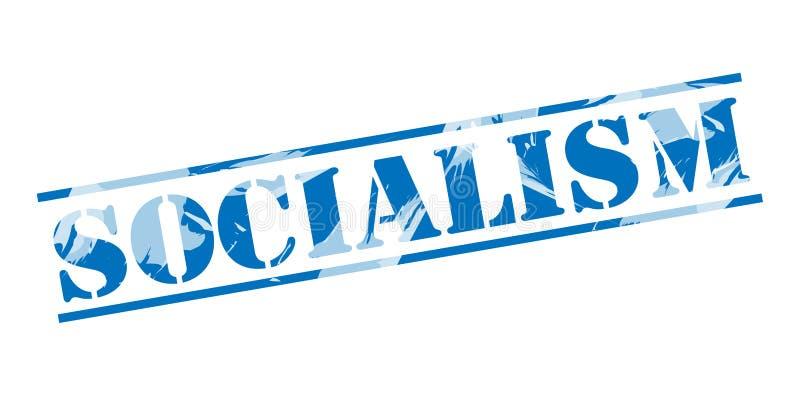 Sello azul del socialismo ilustración del vector