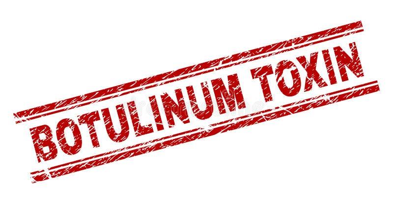 Sello BOTULINUM texturizado Grunge del sello de la TOXINA libre illustration