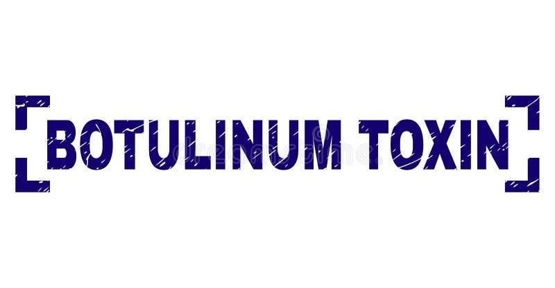 Sello BOTULINUM texturizado Grunge del sello de la TOXINA dentro de esquinas ilustración del vector
