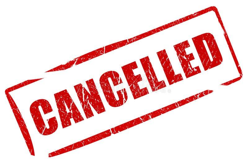Sello cancelado stock de ilustración