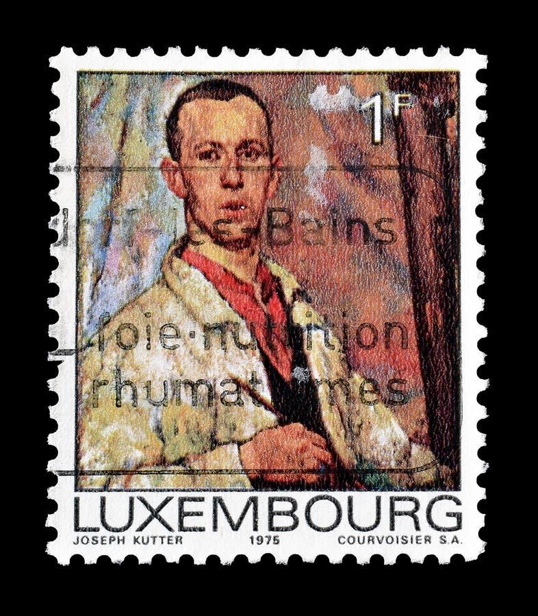 Sello cancelado impreso por el Luxemburgo imágenes de archivo libres de regalías