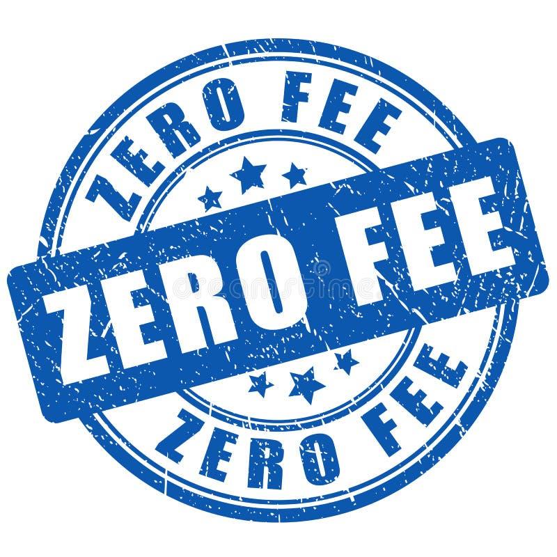 Sello cero de la tarifa stock de ilustración
