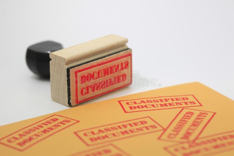 Sello clasificado de los documentos imagen de archivo