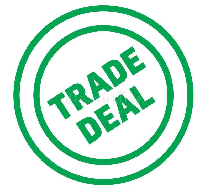 Sello comercial del trato en blanco stock de ilustración