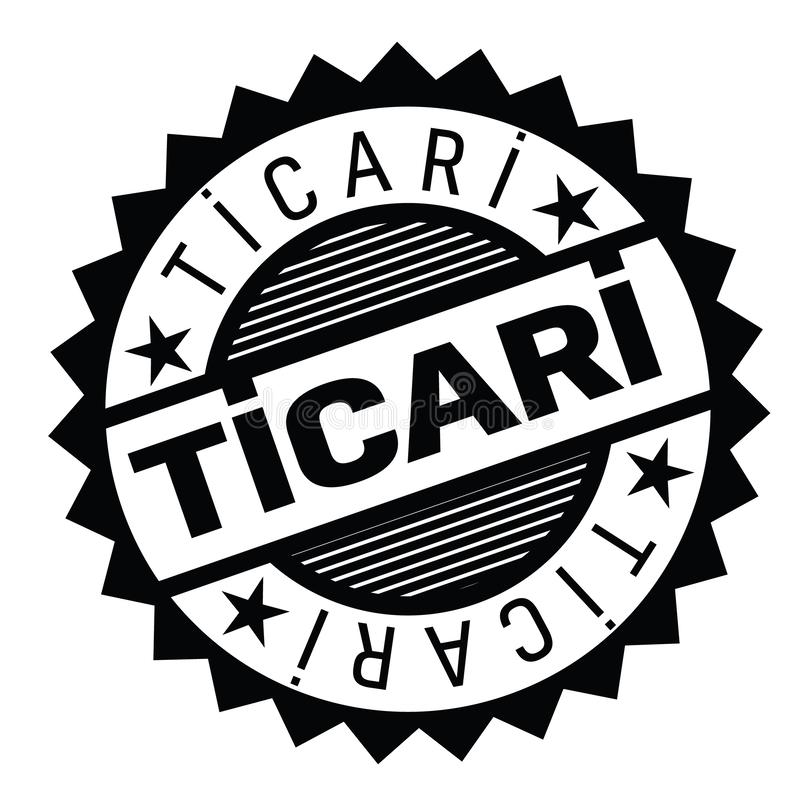 Sello comercial en turco ilustración del vector