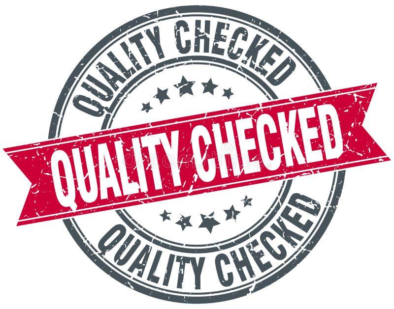 Sello comprobado calidad stock de ilustración