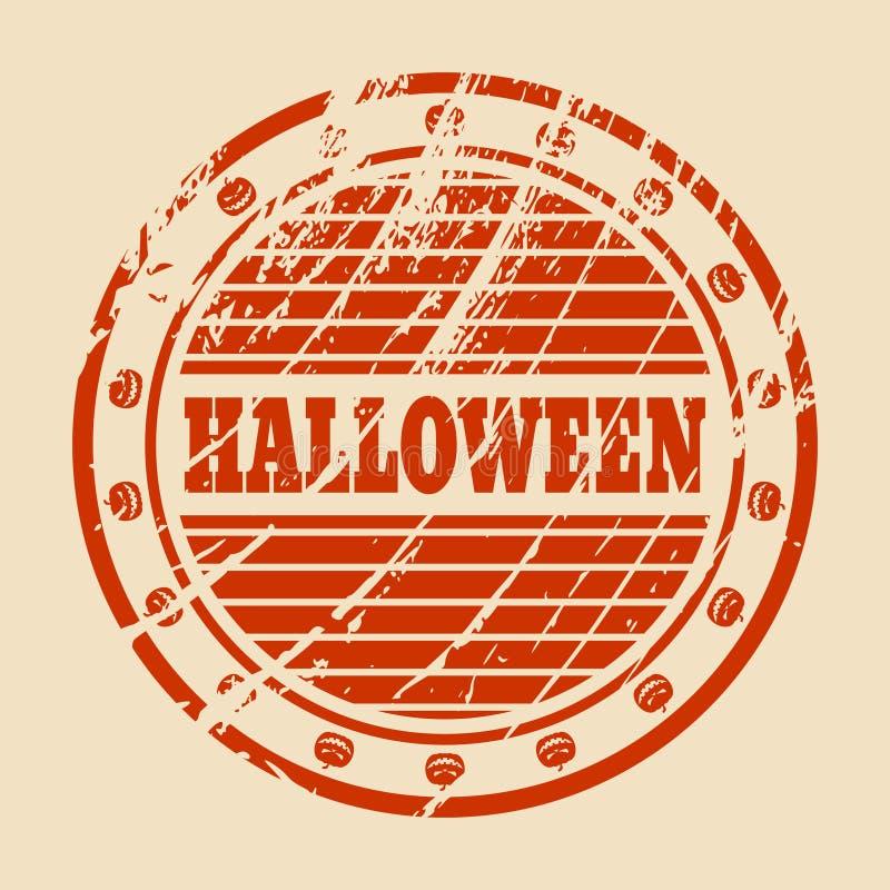 Sello con el texto de Halloween ilustración del vector