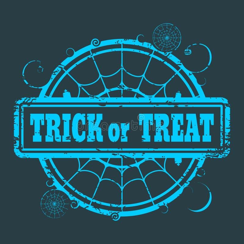 Sello con el texto de la venta de Halloween ilustración del vector