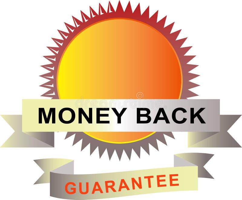 Sello con garantía de la parte posterior del dinero libre illustration