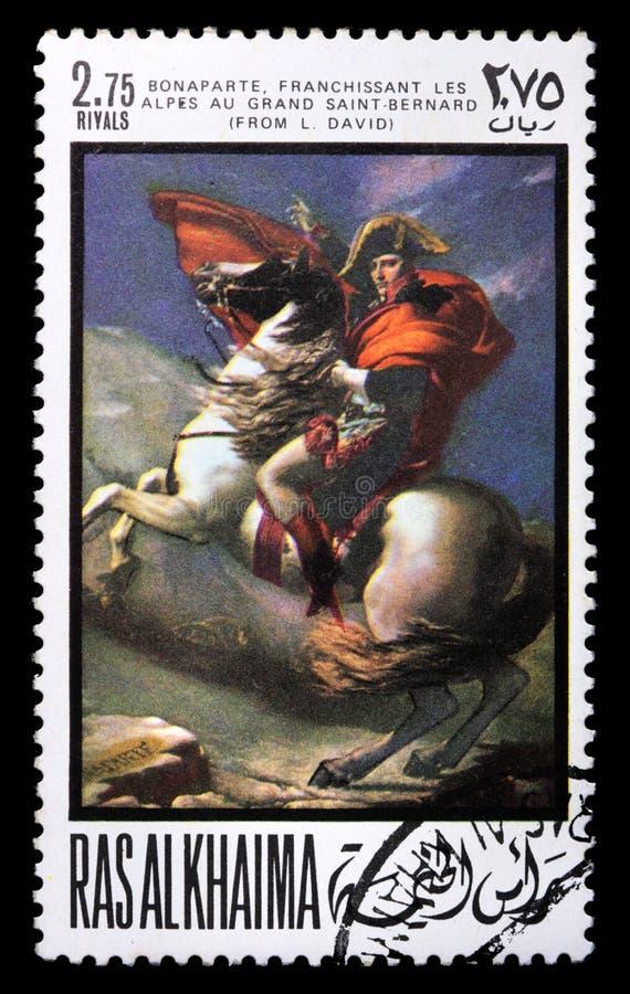 Sello con Napoleon imágenes de archivo libres de regalías