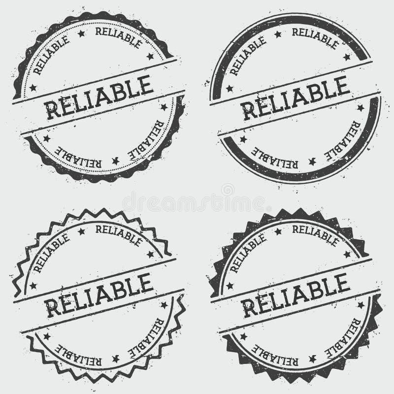 Sello confiable de las insignias aislado en blanco libre illustration